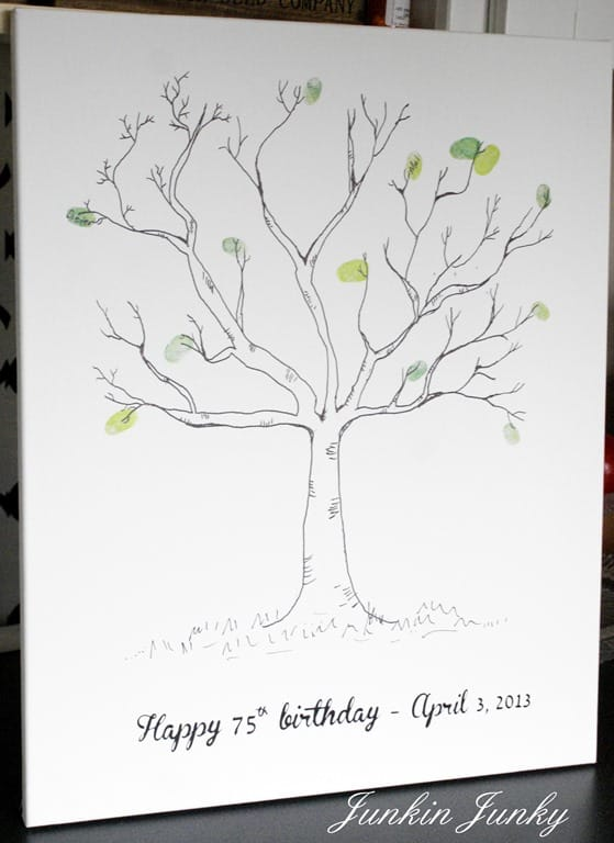 90th Birthday Thumbprint Tree Guest Book