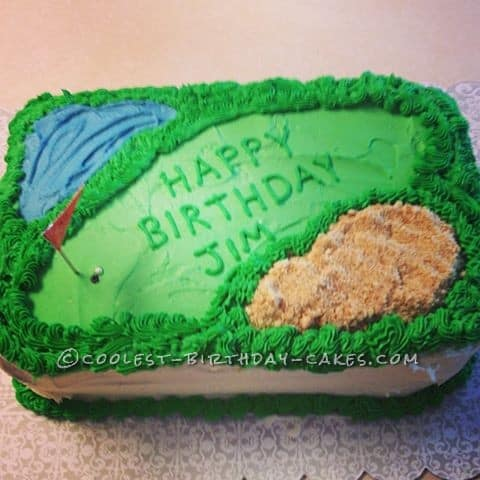 Golf Course Cake Design : 90th Birthday Cakes and Cake Ideas