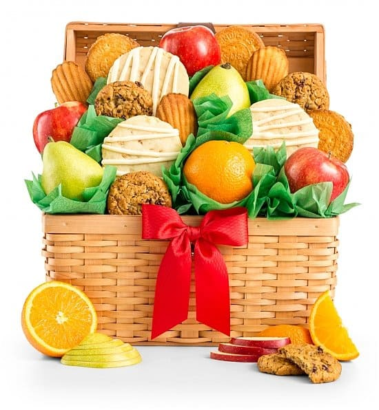 Birthday Gift baskets - Impress someone special on his or her birthday with an elegant fruit and cookies gift basket - the perfect blend of healthy and decadent treats!