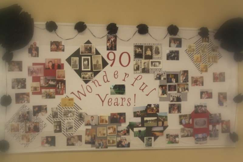 90th birthday photo decorations 11 creative ways to for 90th birthday decoration ideas