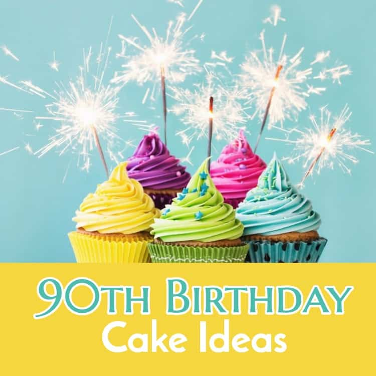 Birthday cake ideas 90th image inspiration of cake and for 90th birthday decoration