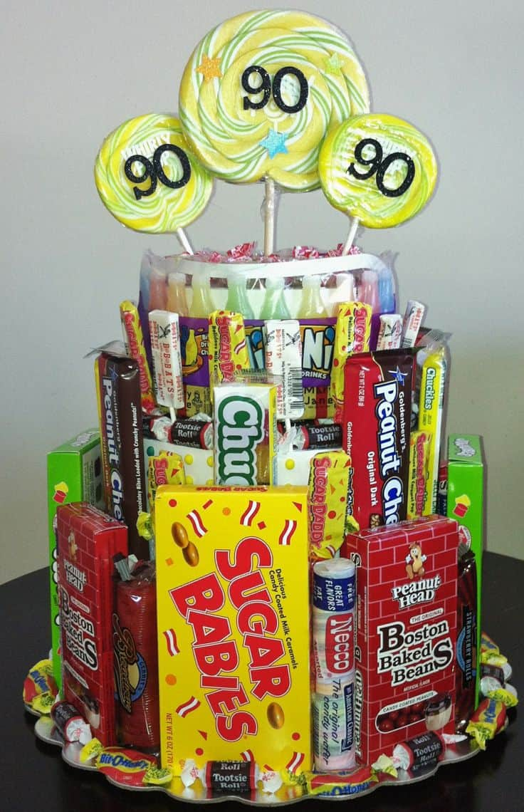 90th Birthday Candy Centerpiece