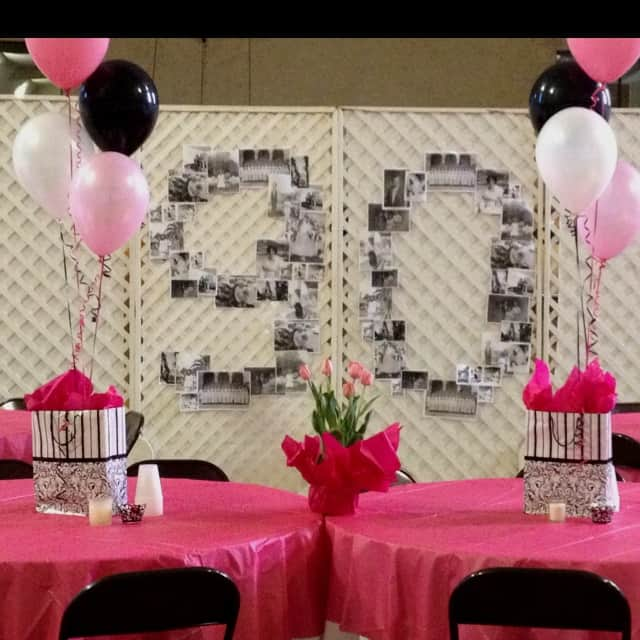 DIY 90th Birthday Photo Display
