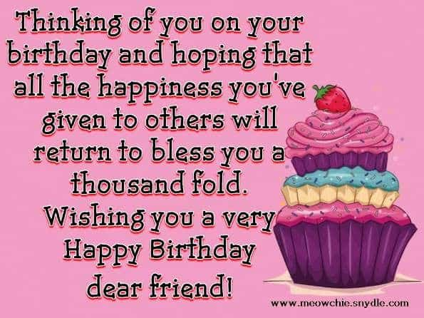 Birthday Quotes For A Friend Miles Away : Th birthday wishes perfect quotes for a
