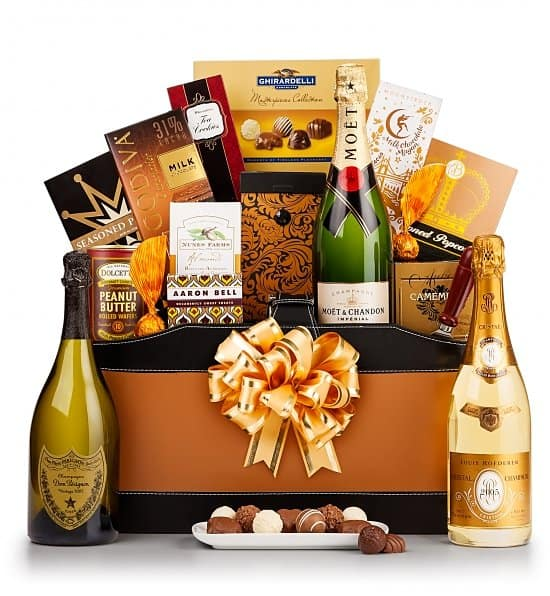 90th Birthday Gourmet Champagne Gift Basket