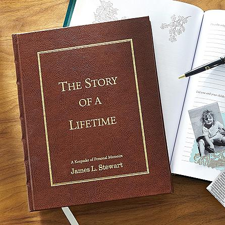 Personalized Story of a Lifetime Memory Book - Choice of Colors
