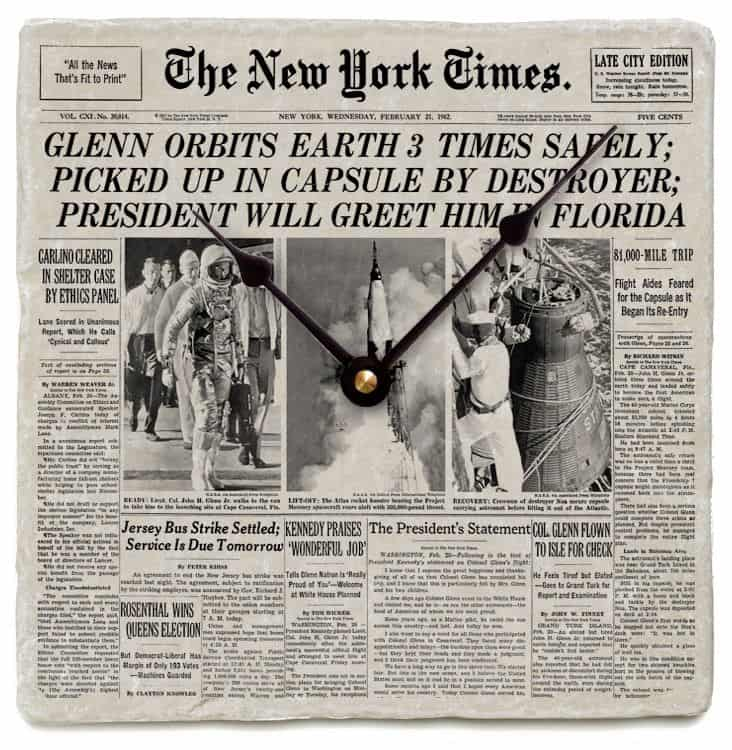 New York Times Front Page Clock