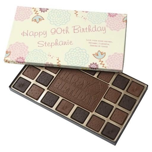 90th Birthday Chocolate Box