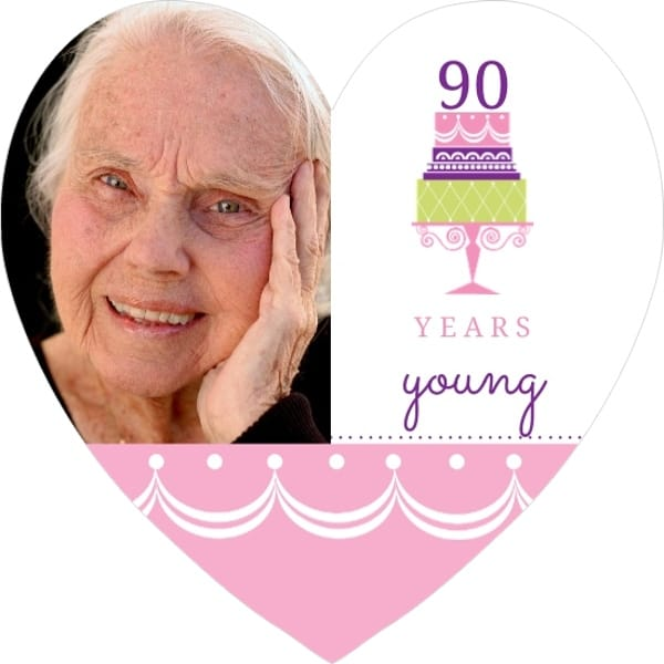 90th Birthday Invitations for Women