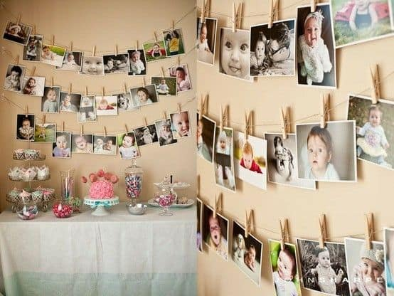 90th Birthday Photo Wall Decorations