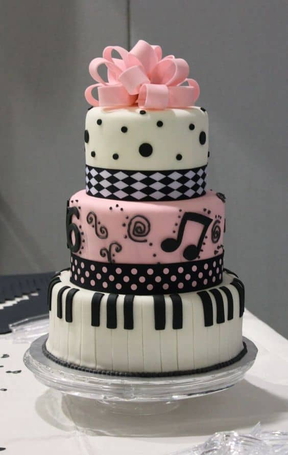 90th Birthday Piano Cake
