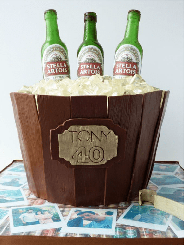 Wooden Ice Bucket Cake