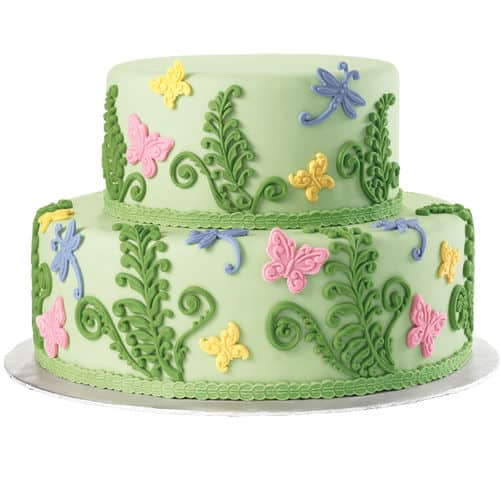 Butterfly and Ferns Cake Tutorial