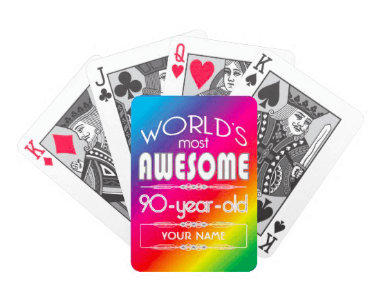 90th Birthday Deck of Cards