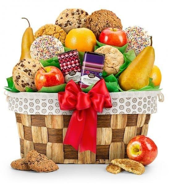 Fresh Fruit & Cookies 90th Birthday Gift Basket