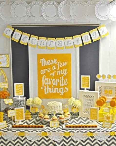 Love this for a 90th birthday party theme idea!
