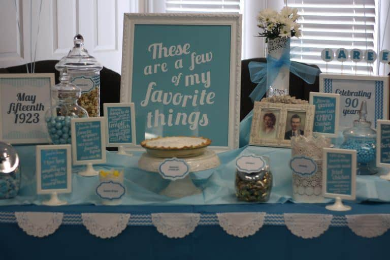 My Favorite Things Birthday Party Theme