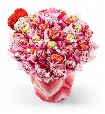 Lindt Chocolate Flowers Arrangement Birthday Gift
