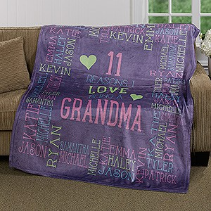 Personalized Reasons Why Blanket - Choice of Colors