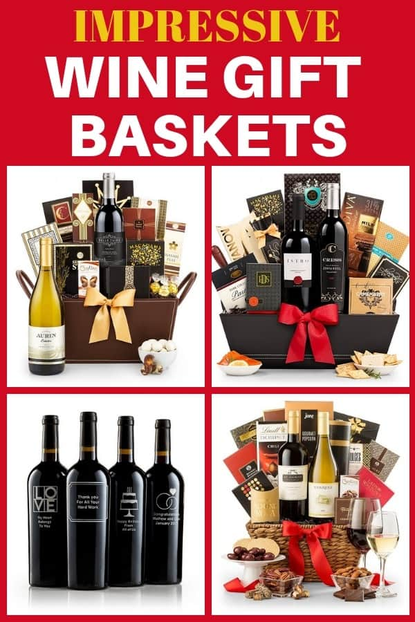 90th Birthday Wine Gift Baskets - Celebrate a 90th birthday in style with an impressive 90th birthday wine gift basket!