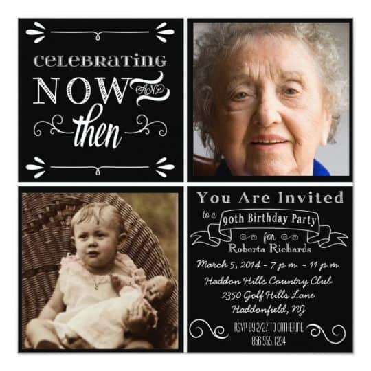 Chalkboard Style 2 Invites With Pictures