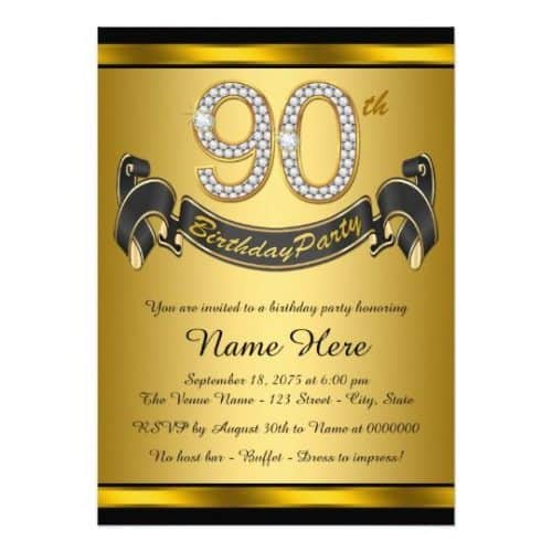 picture regarding Free Printable 90th Birthday Invitations known as 90th Birthday Invites - 30+ Magnificent Invitations in the direction of Impress