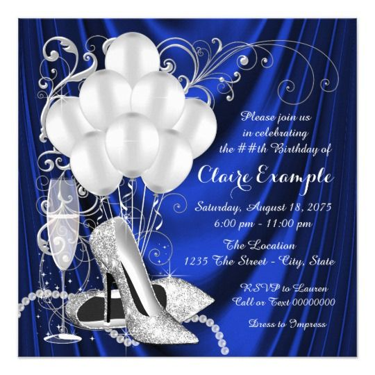 Elegant 90th Birthday Party Invitations For A Woman