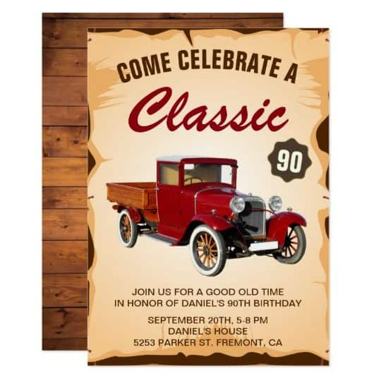 Funny 90th Birthday Invitations
