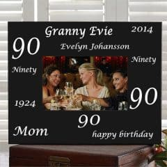 Personalized 90th Birthday Picture Frame
