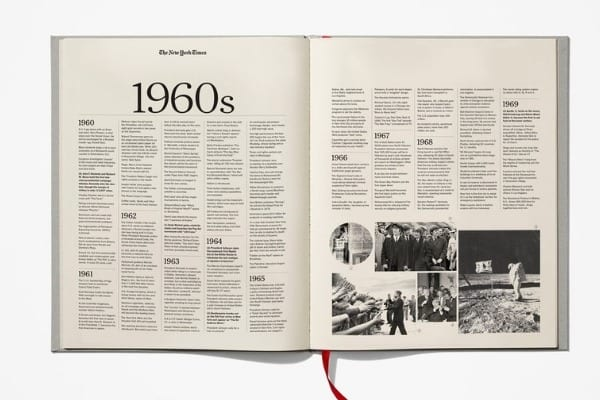 New York Times Ultimate Birthday book - timeline