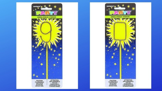 90th Birthday Candles - Add excitement to a 90th birthday cake with these brilliant sparklers!