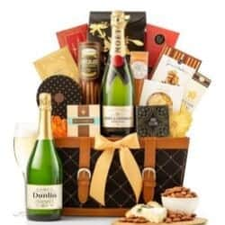 Champagne Wishes Gift Basket - Free Shipping
