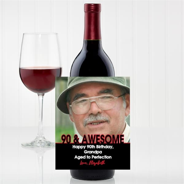 Personalized Wine Bottle Label with Photo