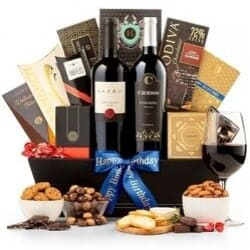 Luxury Wine Gift Basket - Free Shipping