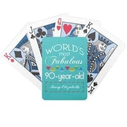 90th Birthday Playing Cards - Choice of Styles