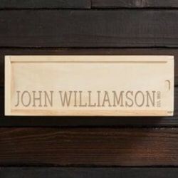 Engraved Wooden Wine Gift Box with Date