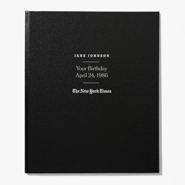 The New York Times Custom Birthday Book - Shopping for an impressive 90th birthday gift for man who has everything? Impress him with this personalized book that features every birthday front page from his entire life! Click for ordering details. #90thBirthdayIdeas #90thBirthday #milestonegifts