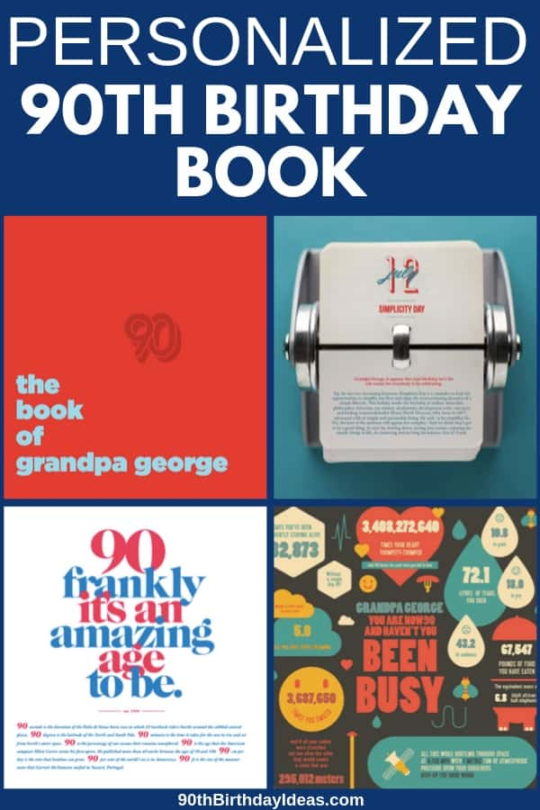 Unique Gifts for 90 Year Olds - It takes just a few minutes to create a personalized book that's perfect for celebrating milestone birthdays. #90thBirthdayIdeas #90thBirthdays #birthdaygifts