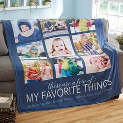 Favorite Things Photo Blanket - Choice of Colors