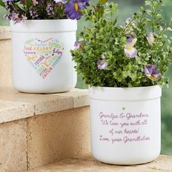 90th Birthday Flower Pot with up to 21 Names