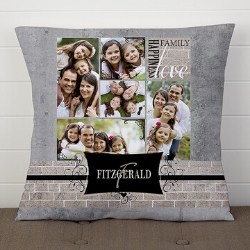 Personalized Throw Pillow with 5 PIctures