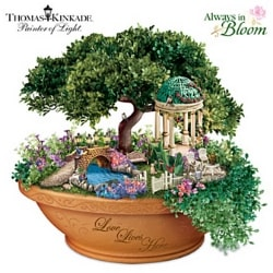 Thomas Kinkade Love Lives Here Illuminated Centerpiece