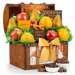 90th Birthday Fruit & Chocolate Gift Basket