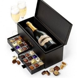 Chocolate and Champagne Gift Basket