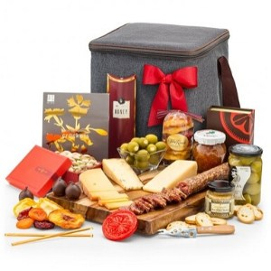 Artisan Cheese Gift Basket with Personalized Ribbon