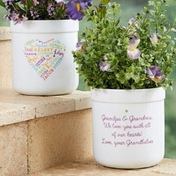 Heart of Love Flower Pot with 21 Names or Word