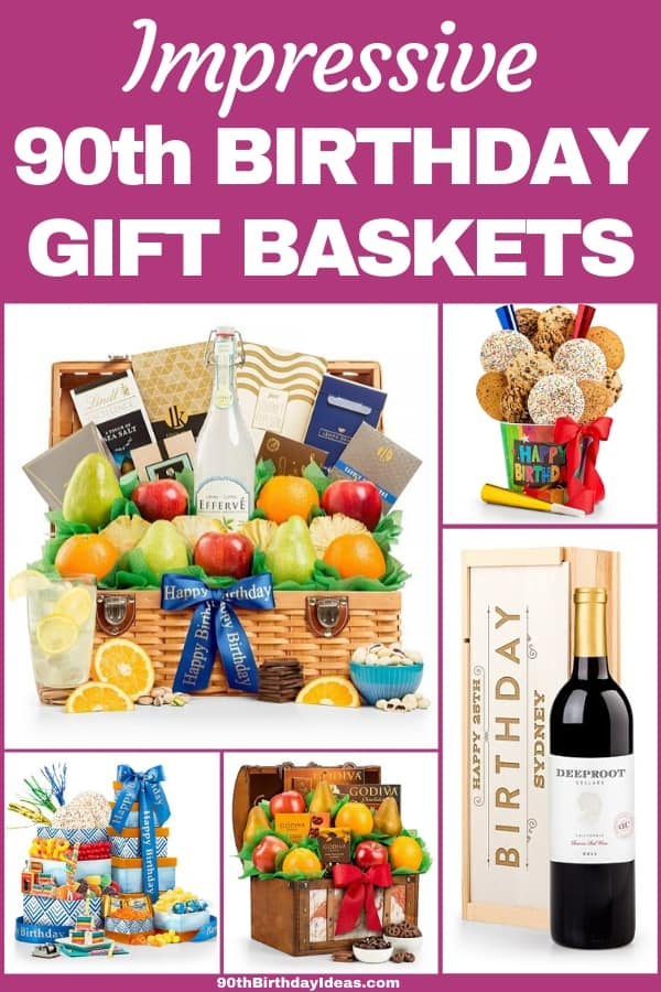 90th Birthday Gift Baskets for Women - Thrill a special woman who is turning 90 with a scrumptious gift basket! Prices start at under $30...order today.