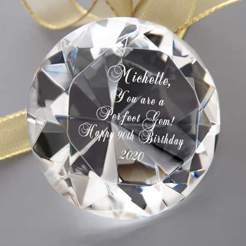 Unique 90th Birthday Gift Ideas for Her - Looking for a sentimental gift for a 90 year old woman? Let her know you think she's a treasure with this sparkling crystal gem!
