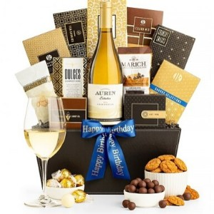 90th Birthday Wine Gift Baskets for Men - Choice of Styles - from $50