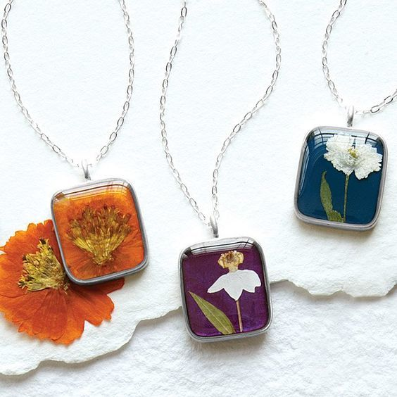 90th Birthday Jewelry - Gorgeous birth month flower necklace